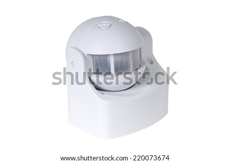 infrared motion sensor isolated on white