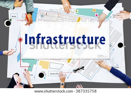 Infrastructure City Plan Design Location Concept - stock photo