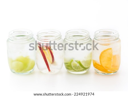 infused water isolated on white background - stock photo