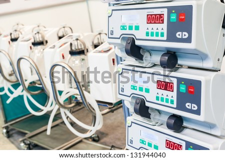 infusion pump - stock photo