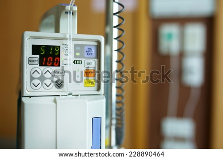 Infusion Pump Intravenous IV Drip - stock photo