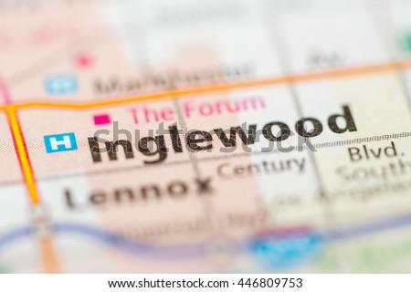 Inglewood Map Stock Images RoyaltyFree Images Vectors - Inglewood map