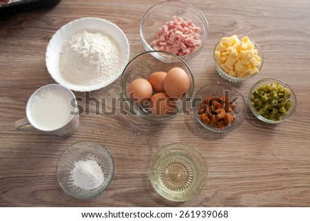 Ingredient for homemade pie - stock photo