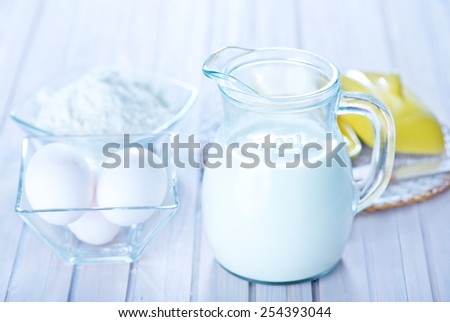 ingredients for dough - stock photo