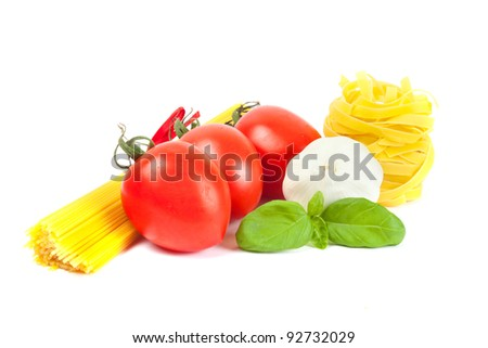 Ingredients for Italian cooking - stock photo