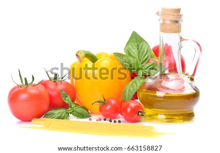 Ingredients for pasta preparation