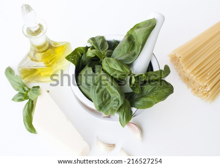 Ingredients for Pesto alla Genovese , Basil Sauce