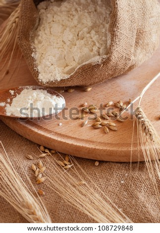 ingredients for the baking of bread - stock photo