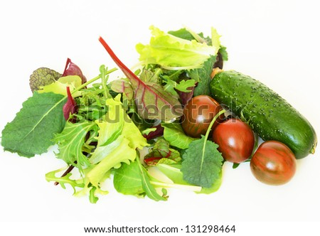 Ingredients for vegetable salad - stock photo