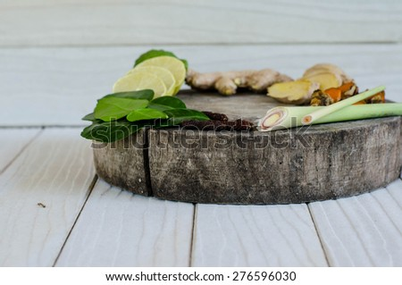 Ingredients of Thai spicy food, tom yum. - stock photo