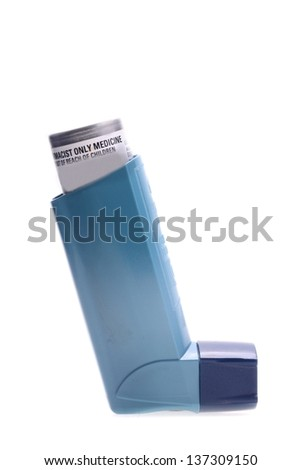 inhaler isolated over white with all branding removed - stock photo