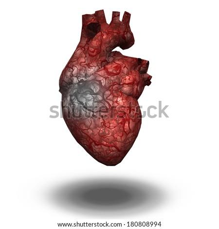 Injured Heart - stock photo