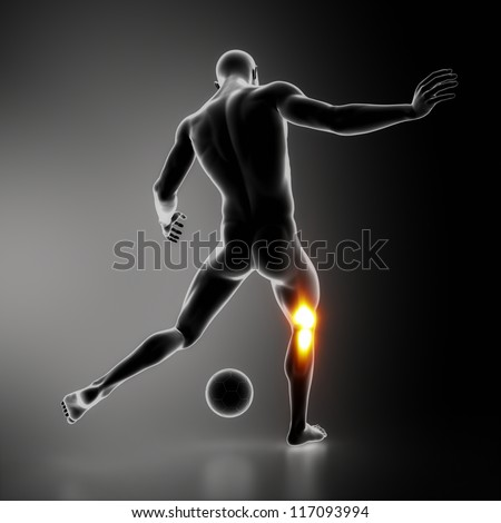 Injury sportsman KNEE joint - stock photo