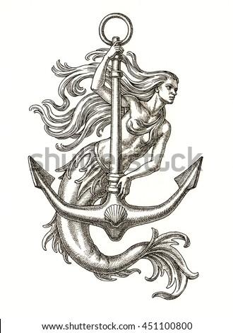 Vintage Mermaid Clipart   www.pixshark.com - Images ...