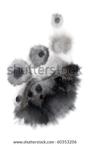 ink and wash spatter - stock photo