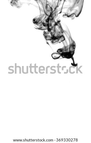 ink in water on white background - stock photo