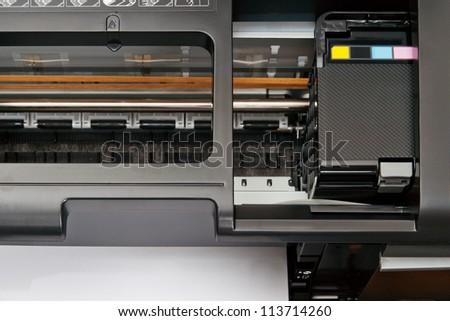 Ink-jet printer inside - stock photo