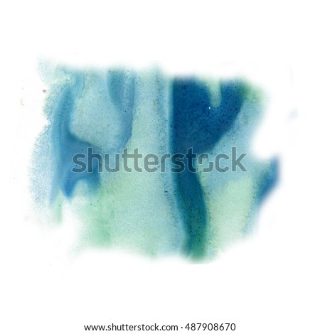 ink splatter watercolour blue dye liquid watercolor macro spot blotch texture isolated on white