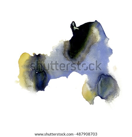 ink splatter watercolour purple black dye liquid watercolor macro spot blotch texture isolated on white