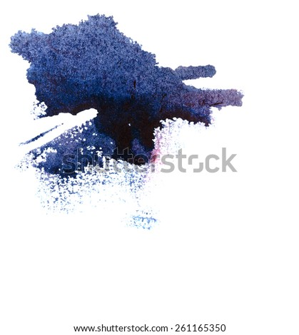 Ink stains on paper. Colorful abstraction for design. - stock photo