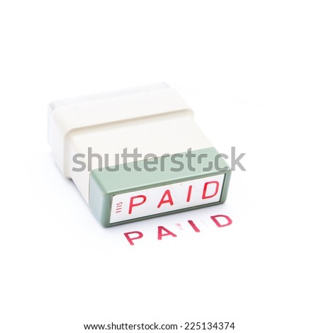 Ink stamp paid - stock photo