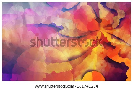 Inked Colorful abstract wavy background - stock photo