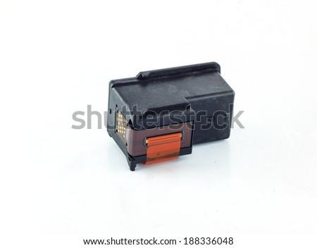 Inkjet printer cartridges isolated - stock photo