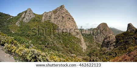 Inland La Gomera, approach to Los Roques, Canary Islands