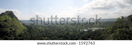 Inland, Mountainous Panoramic View, Sri Lanka