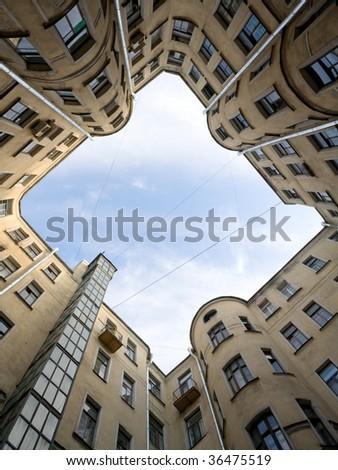 inner court. sky see - stock photo