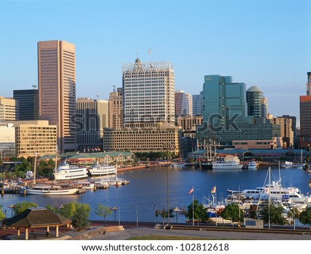 Inner harbor at Baltimore, Maryland - stock photo