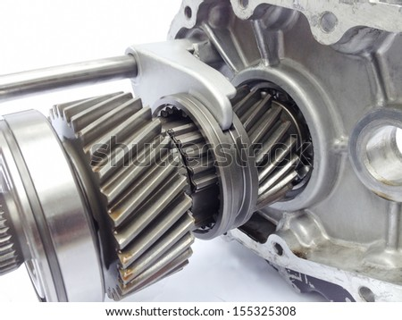 inner part of used gearbox  - stock photo
