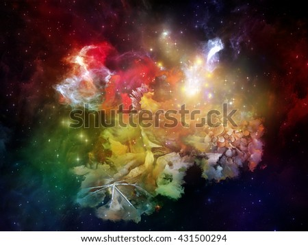 Inner Solaris series. Composition of nebulous, organic forms and colors on the subject of mind, dream, spirituality and imagination - stock photo