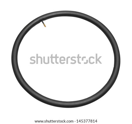 Inner tire on a white background   - stock photo