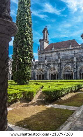 Inner yard of the Batalha Monastery, Portugal