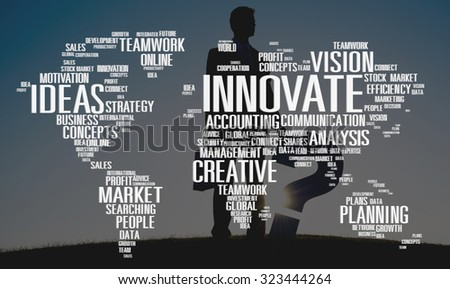 Innovate Inspiration Creativity Ideas Progress Concept - stock photo