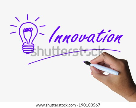 Innovation and Lightbulb Showing Ideas Creativity and Imagination