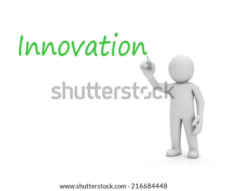 innovation and man - stock photo