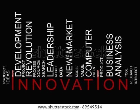 innovation  bar-code - stock photo
