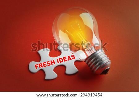 Innovation concept: Fresh Ideas - stock photo