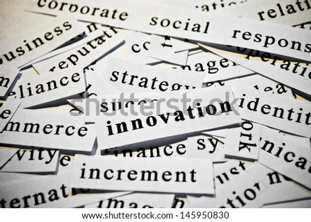 Innovation. Concept of cutout words related with business. - stock photo