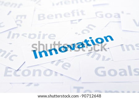 Innovation concept word