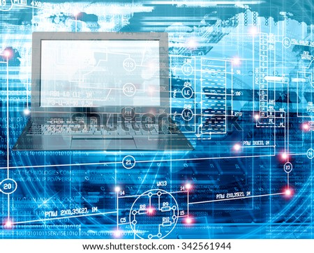 Innovation connection technology. - stock photo