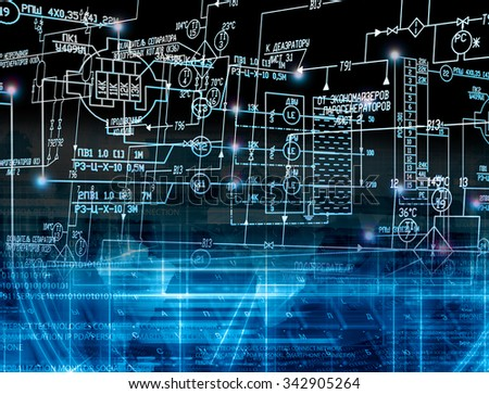 Innovation connection technology.computer technology - stock photo