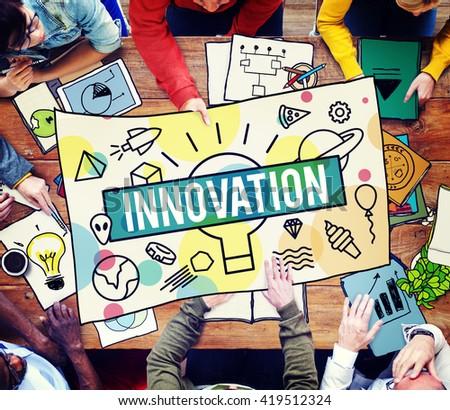 Innovation Creative Design Development Ideas Concept - stock photo