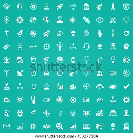 innovation 100 icons universal set for web and mobile