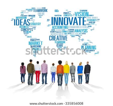 Innovation Inspiration Creativity Ideas Progress Innovate Concept - stock photo