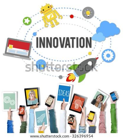 Innovation Plan Planning Ideas Launch Start Up Success Concept - stock photo