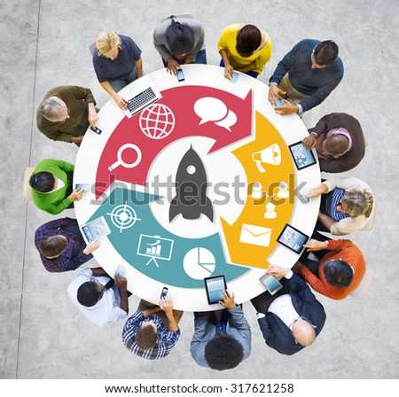 Innovation Start Up Success Growth Concept - stock photo