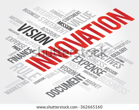 INNOVATION word cloud, business concept - stock photo
